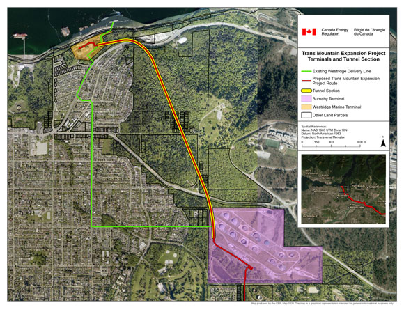 Trans Mountain Expansion Project Terminals and Tunnel Section