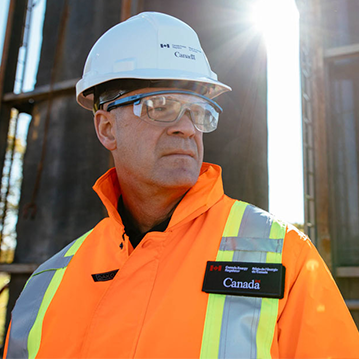 CER employee wearing personal protective equipment